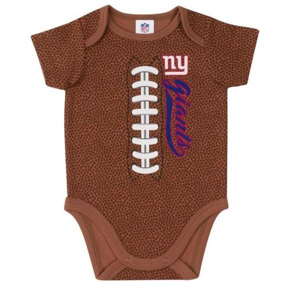 Gerber Other - Giants Baby Boys Football Short Sleeve Bodysuit